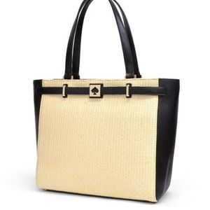 Kate Spade leather / straw bag